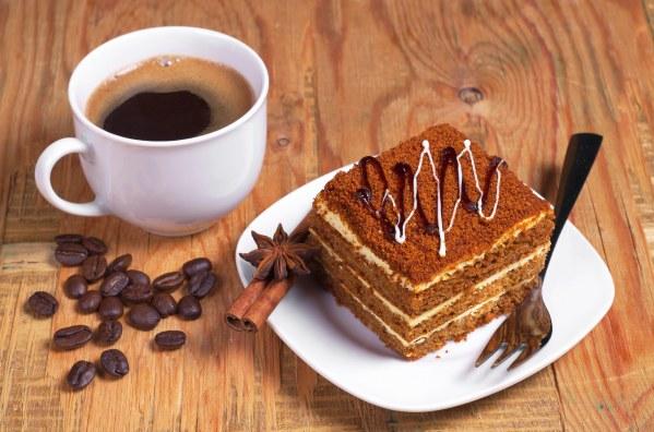tarte au café+ café