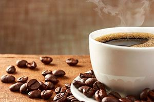 café + grains de café