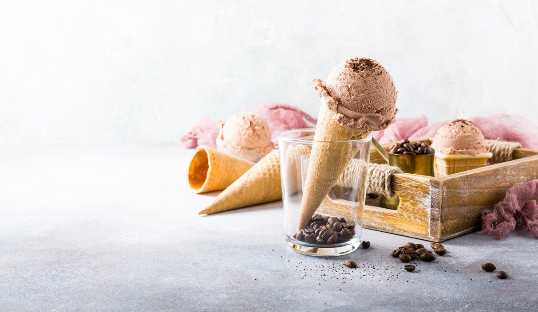 glace au café sur cone